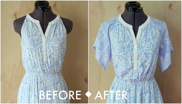 how to add drape sleeves to dress tutorial diy