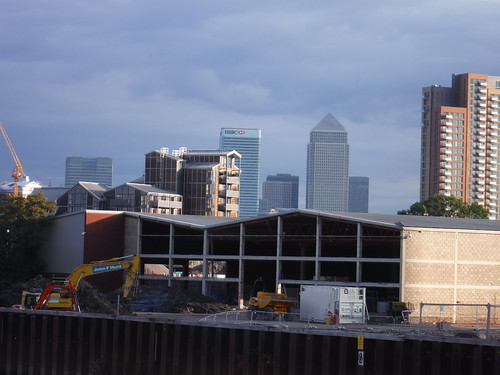 First Sight of Canary Wharf