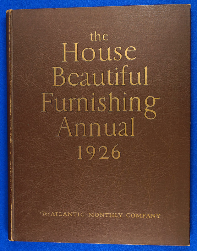 RD1041 1926 The House Beautiful Furnishings Annual Atlantic Monthly Company Interior Design DSC08668