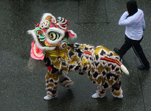 Just out walking my lion (Chinese New Year in Vancouver, Canada)