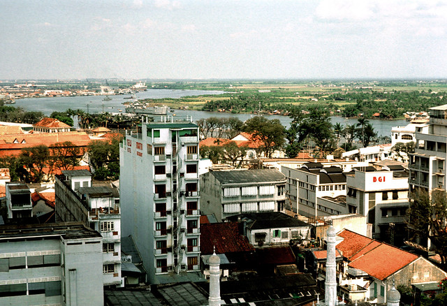 Saigon 1969-70 - Photo by Leroy P. McCarty - Sông Saigon nhìn từ Caravelle Hotel