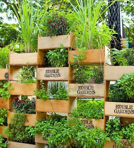 stacked-crates-vertical-planter-wooden-planks-garden