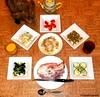 Seara (sea rabbit).  Photograph by Dr. Takeshi Yamada. 20120901 018. ham. SR with scrambled egg. chicken salad. green peas