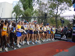 St. Finbarr AC's Cathal O Connell lines up with the elites