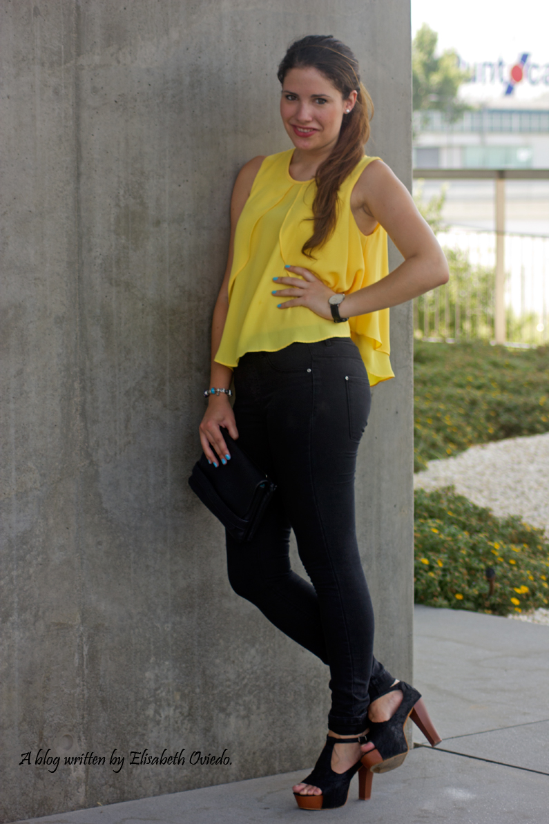 blusa amarilla zara leggings negros heelsandroses (2)