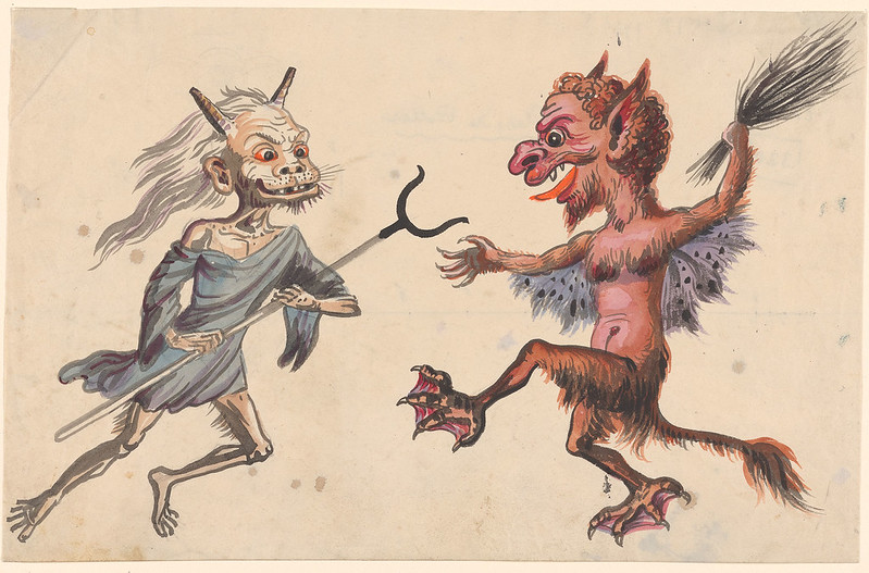 Andreas Leonhard Roller - A Sorcerer and a Devil, 19th Century