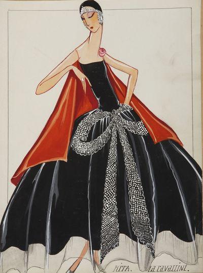 La Cavallini (dessin), 1925 © Patrimone Lanvin