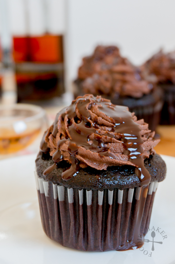 Devil's Food Cupcakes with Fresh Mint Chocolate Frosting