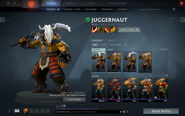 i paid ten dollars for a dota 2 cosmetic set