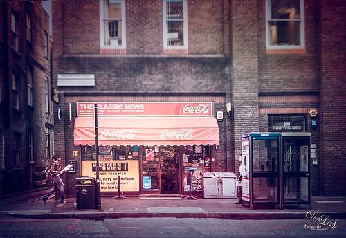 Street Scene from Southwark in London