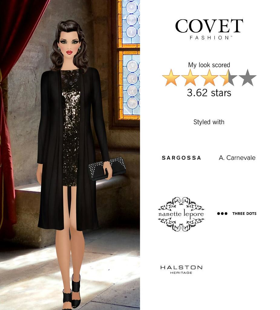 My Look Scored Stars In The Dark Enchantress Challenge In Covet Fashion