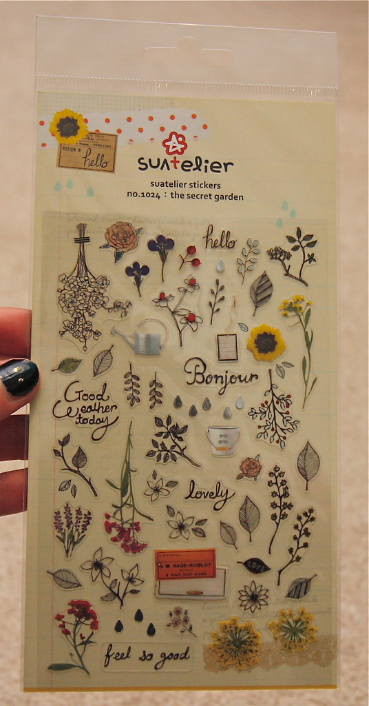 Artbox su atelier secret garden stickers
