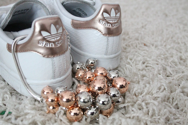 Stan Smith Adidas Weiß Gold