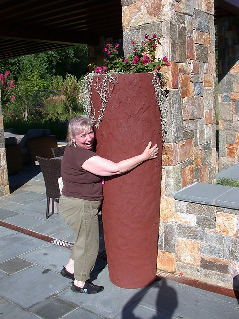 Carolyn and the giant pot