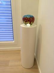 White Laminate Cylinder Pedestal
