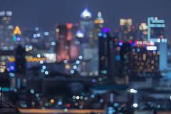 Bangkok blurred abstract background lights