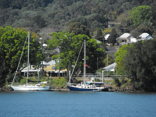 Yachts at Maclean from Ashby NSW Lower Clarence 2009-09