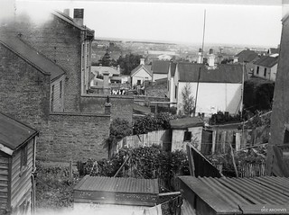 Backyards in Melville Street/Palmyra Street Area, 1957