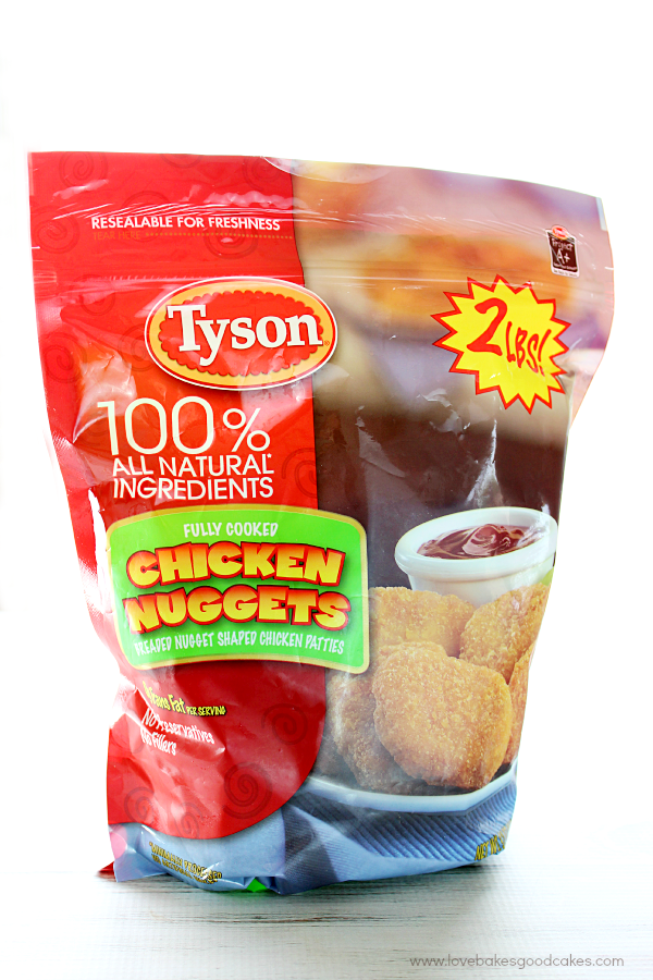 A bag of Tyson Chicken Nuggets.