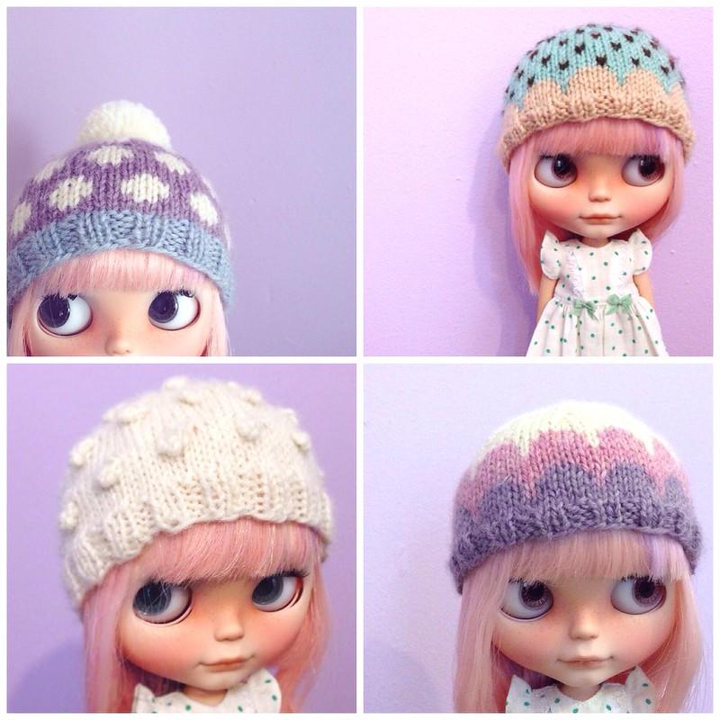 Crochet Hat Pattern For Blythe : cuteseum: Blythe hats (+shop update)