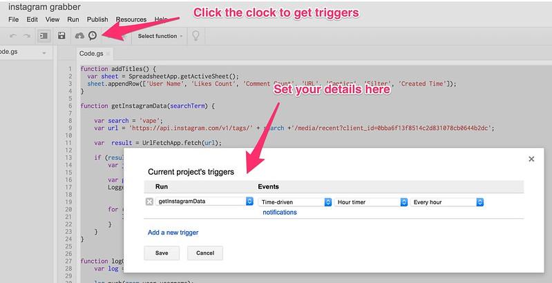 Google Script Trigger