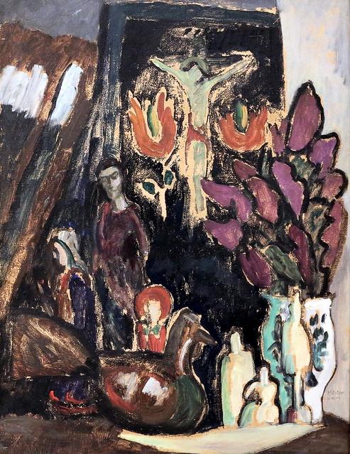 IMG_7676 Gabriele Münter. 1877-1962. München. Nature morte avec fleurs et figures. Still life with flowers and figures. 1911.  Bremen