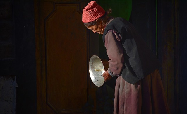 The polished butter lamp, India 2016
