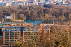 Lyon Cité internationale et Parc de la Tête d'Or depuis Caluire Mars 2014