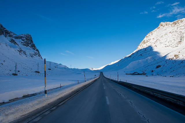 Julier Pass road.