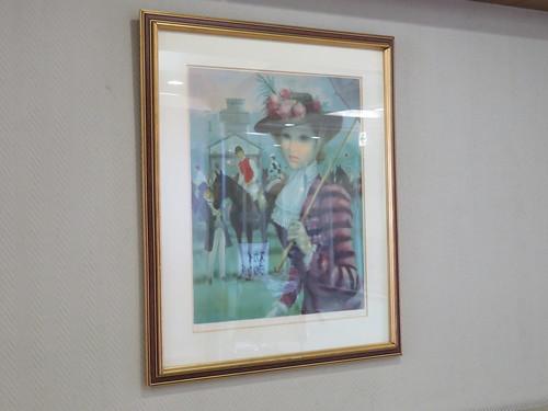 中山競馬場のゴンドラ階に飾られている絵