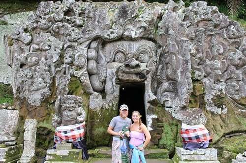 Posing in front of Elephant Cave with our Bintangs