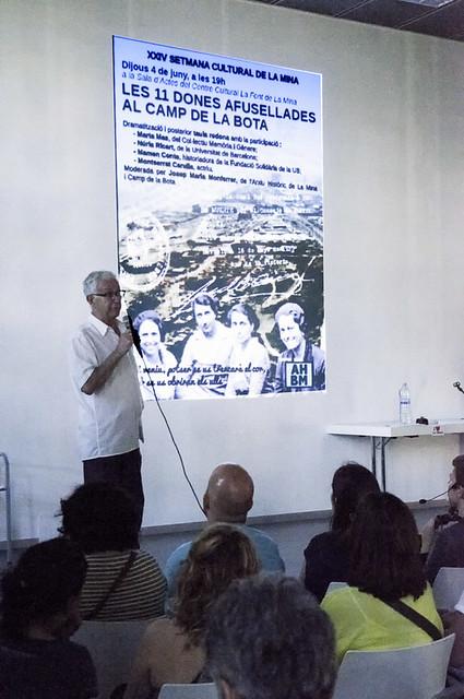 Memorial de la presó de dones de Les Corts i record de les dones afusellades al Camp de la Bota (juny 2015)
