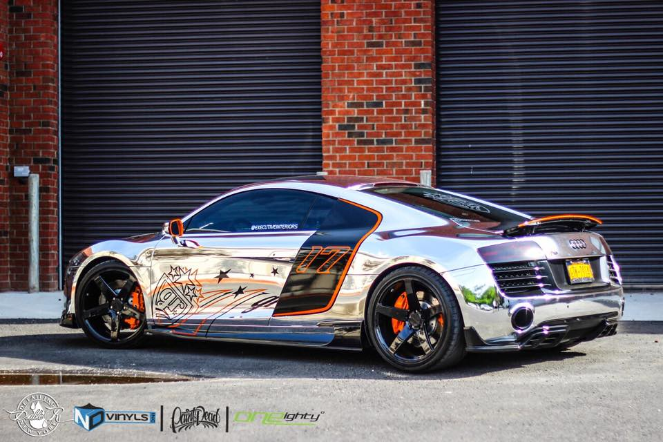 Chrome Car Wrap >> Chrome Gold Rush R8 by NDVinyls!