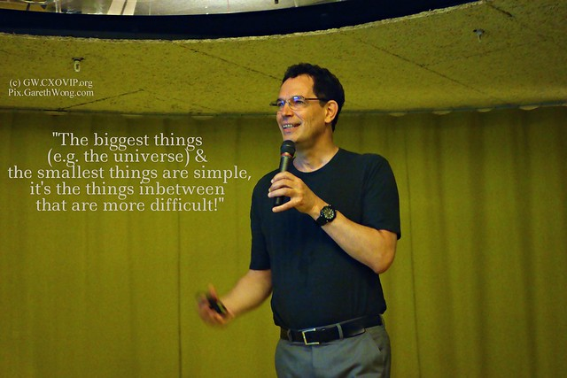 Neil Turok spoke at second home re Physics in 21st century (insights paraphrased by my teenager) from RAW with mic _DSC8354