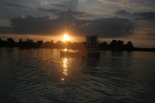 PaddleBR at sunset.