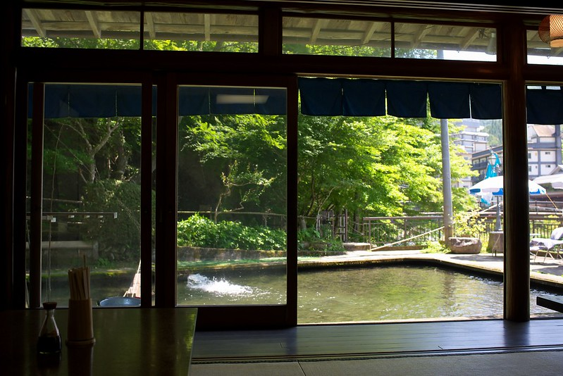塩原温泉大出館の旅 見晴台マス釣り場 2015年7月11日
