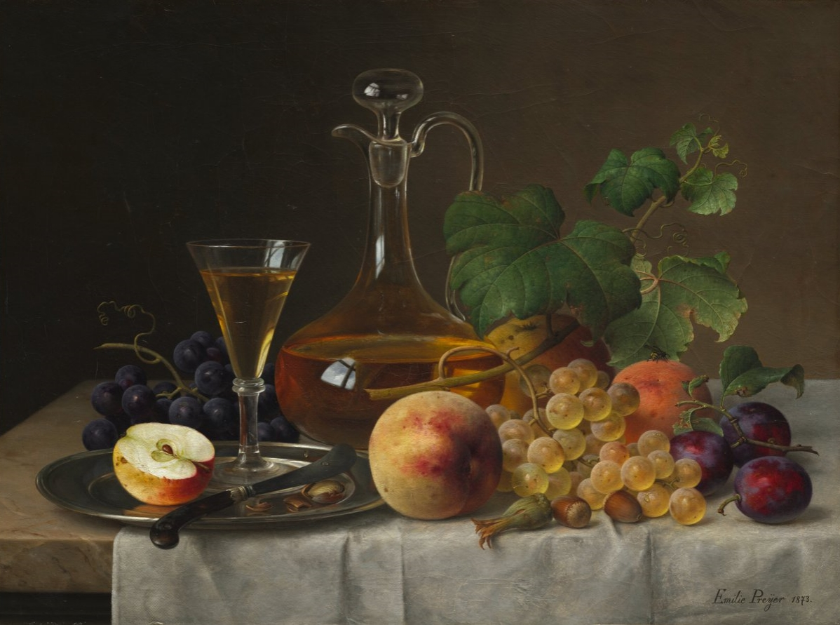 Still Life with Fruit by Emilie Preyer, 1873