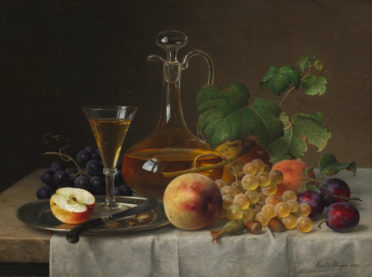 Still Life with Fruit by Emilie Preyer, 1873 » Ciel Bleu Media