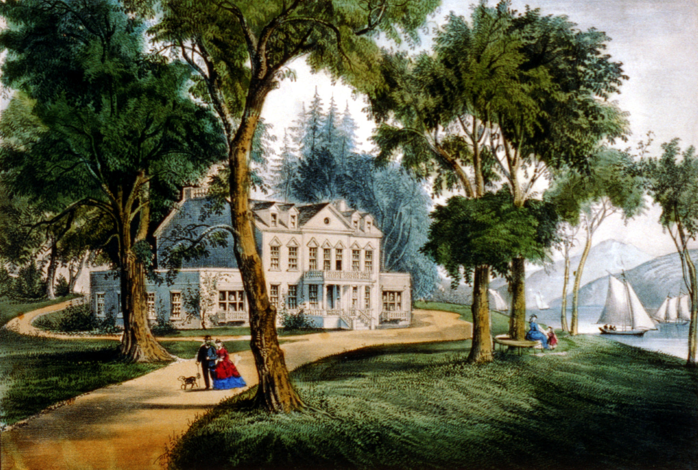 A mansion of the olden time. Published by Currier & Ives, between 1856 and 1907