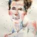 sheri's shoulders - watercolour by Nora MacPhail