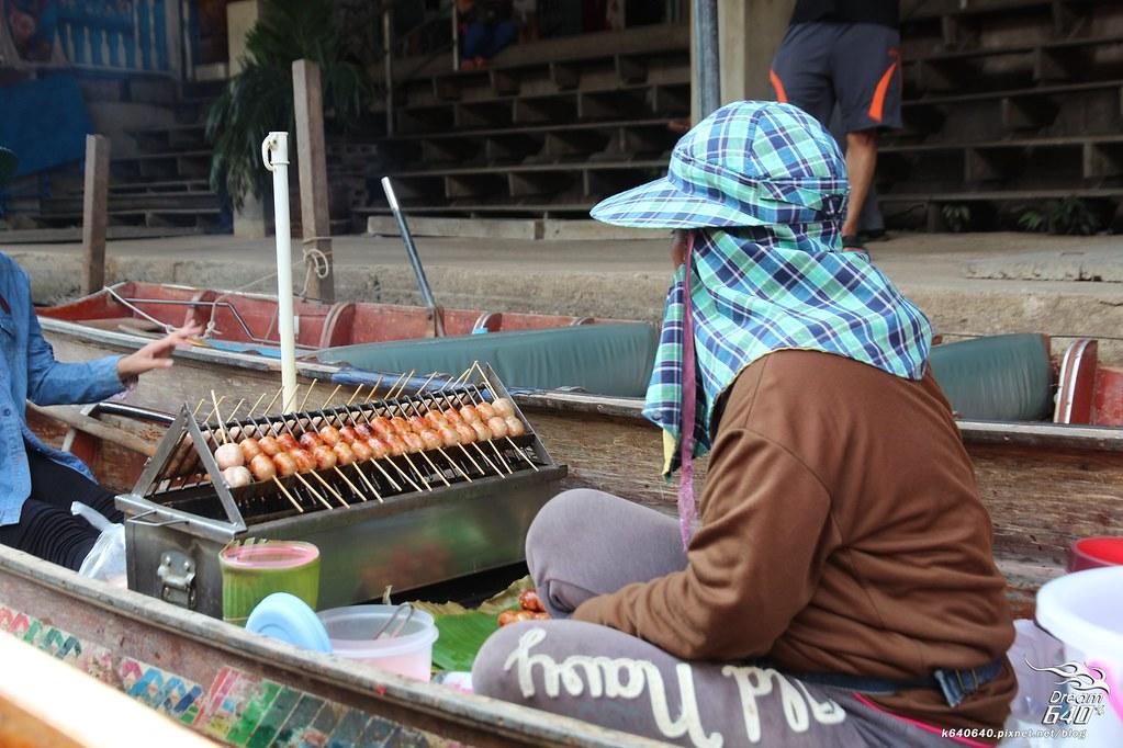 泰國曼谷-水上市場+美功鐵道市集+河濱夜市-53