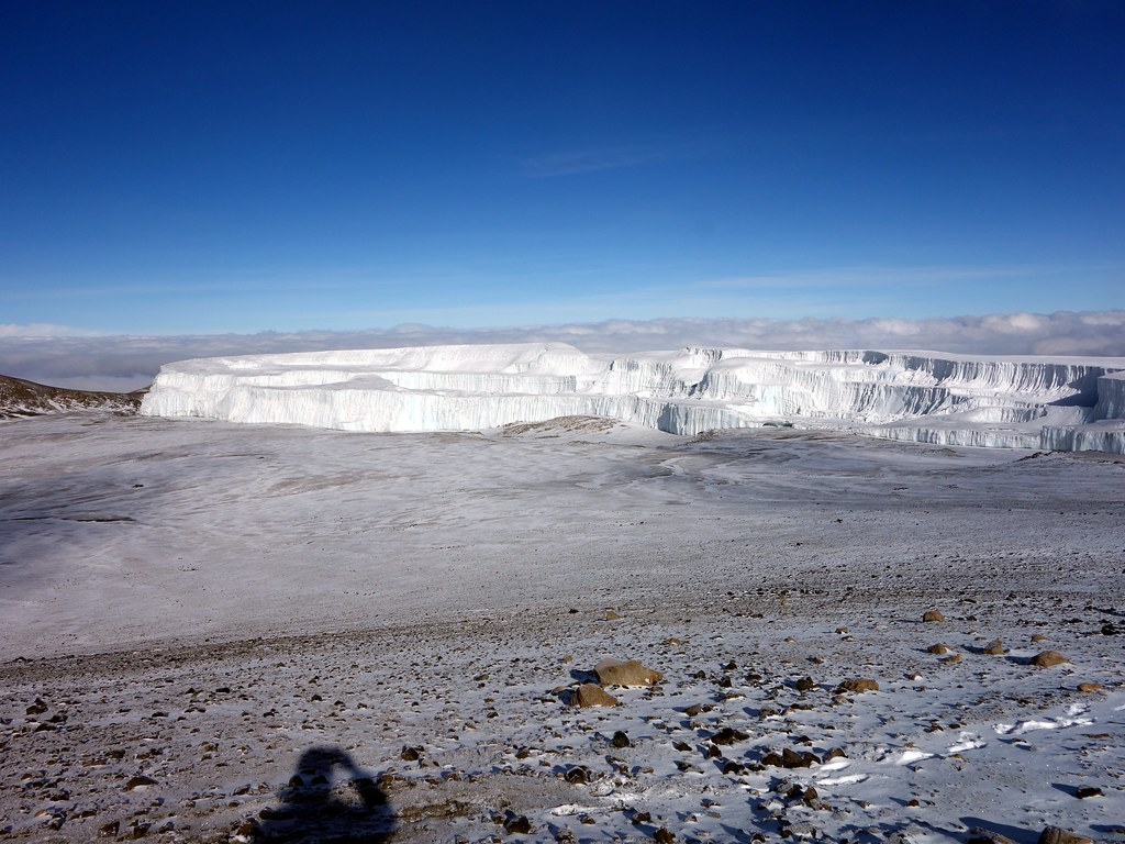 The Northern Icefield from the inner crater rim