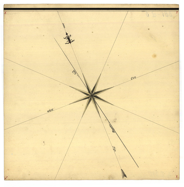 Kort over Bornholm, 1746 - udsnit
