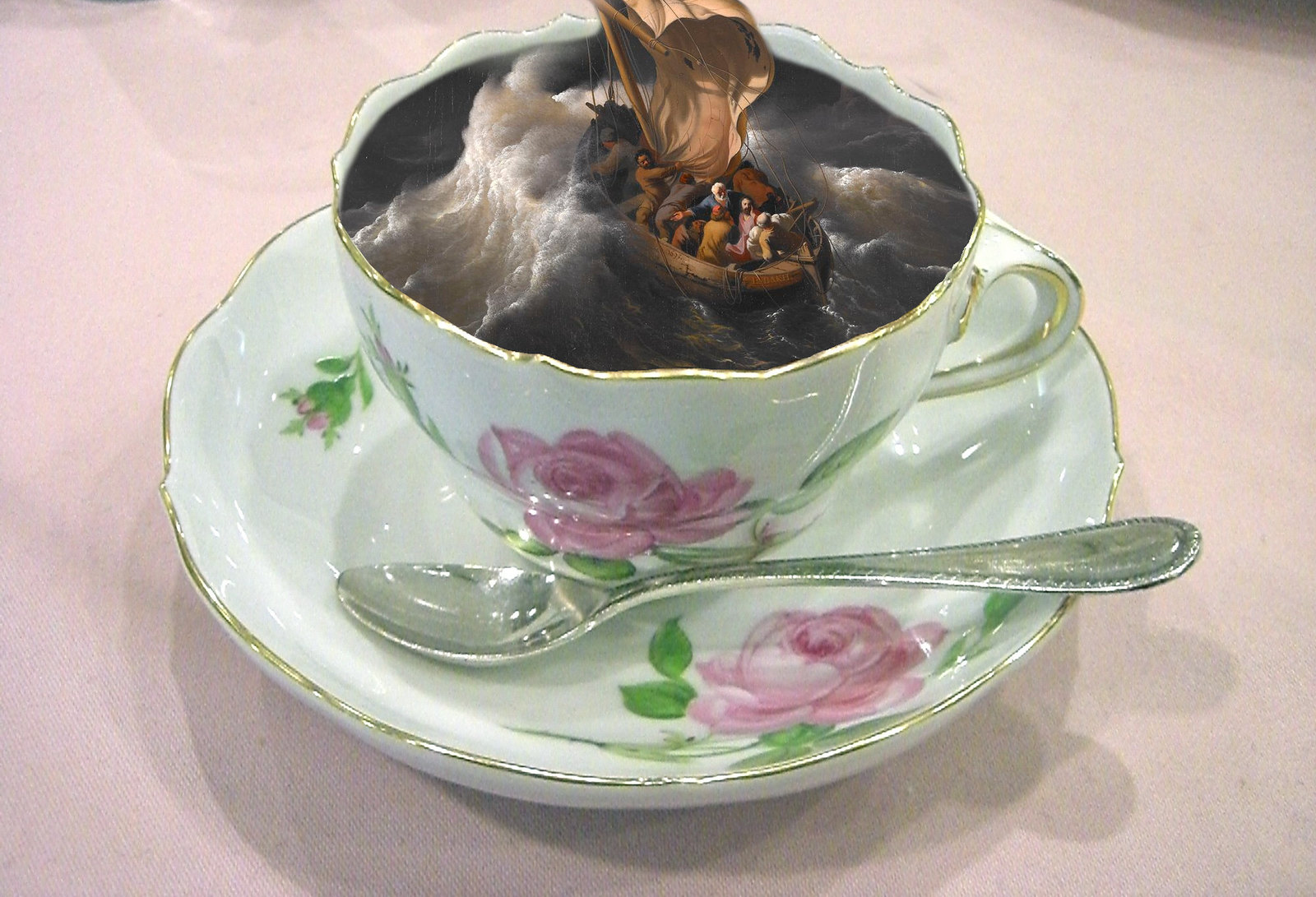 Storm in a teacup. Derivative of work credited to Miya
