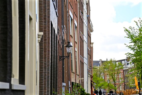All of the buildings in Amsterdam are build on an angle. Different angles.