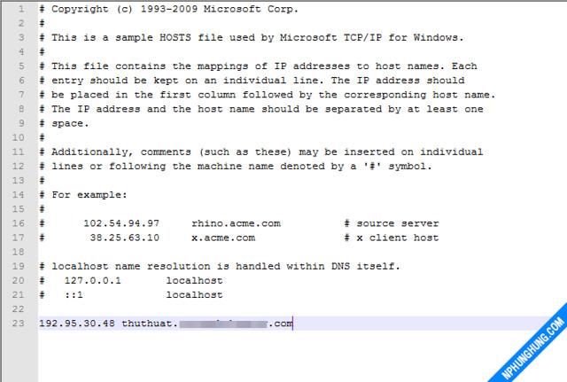 Chỉnh sửa file host để truy cập website