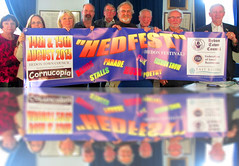 HedFest Banner reflected