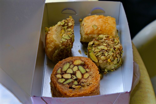 Different types of baklava!