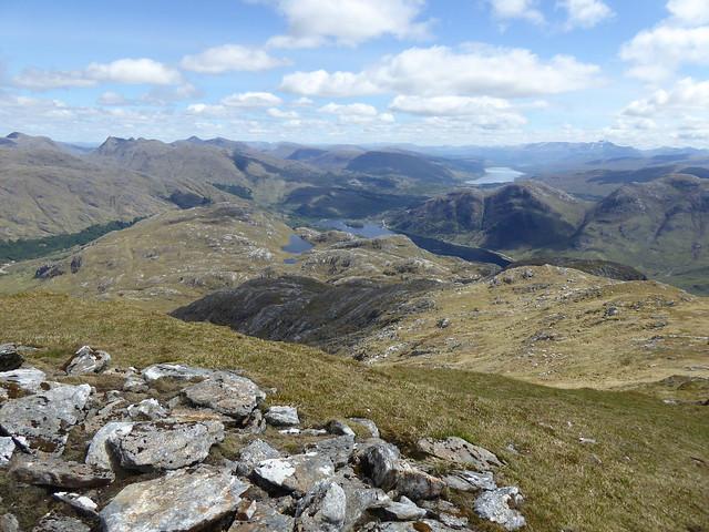 Upper Lochs Shiel and Eil from Beinn Odhar Mhor