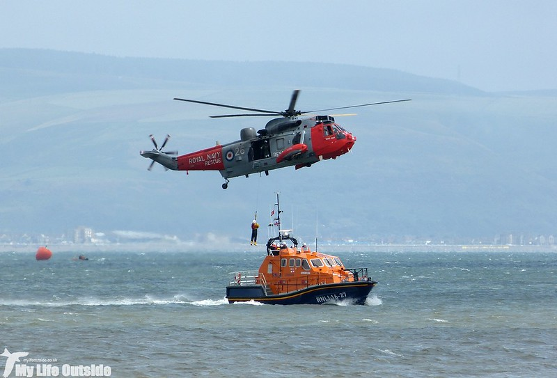 P1140104 - Sea King and RNLI Lifeboat, Swansea Bay